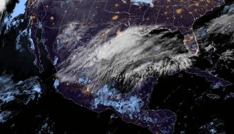 Mapa satelital del clima en la República Méxicana, 18 de marzo de 2019