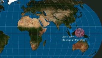 Terremoto de 6.1 grados Richter sacude el mar de Molucas, en Indonesia