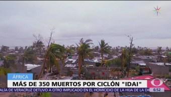 Más de 350 muertos por ciclón 'Idai' en Mozambique