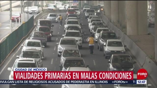 Más de la mitad de calles CDMX, en malas condiciones