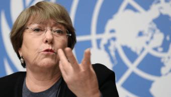 Foto: Michelle Bachelet, alta comisionada de la ONU para Derechos Humanos, 5 de diciembre de 2018, Ginebra, Suiza