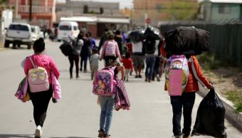 Foto: Un grupo de migrantes caminan en su trayecto por México para llegar a la frontera con Estados Unidos, el 7 de marzo de 2019 (Reuters)