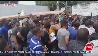 FOTO: Migrantes cubanos irrumpen en las oficinas migratorias de Tapachula, Chiapas, 16 marzo 2019