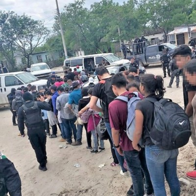 Interceptan a 107 migrantes en Reynosa, Tamaulipas