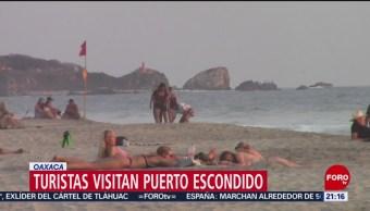 FOTO: Miles de turistas llegan a Puerto Escondido, Oaxaca, 16 marzo 2019