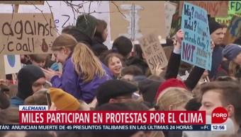 Miles participan en protestas por el clima en el mundo