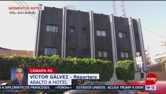Movilización policiaca por asalto a hotel en la alcaldía Cuauhtémoc