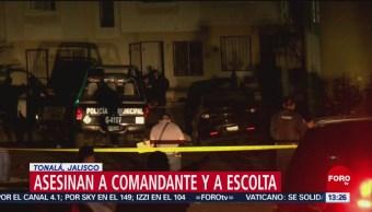 Foto: Muere comandante y escolta durante emboscada en Tonalá, Jalisco