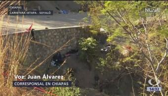 FOTO: Mueren más de 20 migrantes en volcadura de camión en Chiapas, 8 MARZO 2019