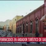 Foto: Mujeres protestan con performance en Oaxaca