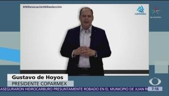 'Ni revocación, ni reelección', dice Gustavo de Hoyos