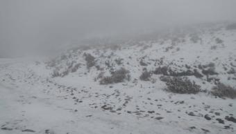 FOTO Nieve cubre el Cerro del Potosí, en Nuevo León, a días de que inicie la primavera (Protección Civil NL 18 marzo 2019