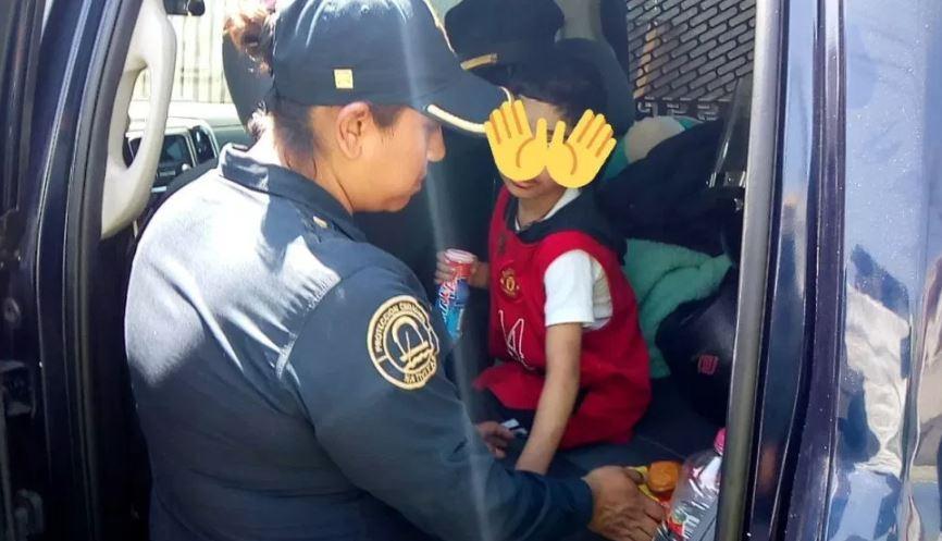 Foto: El menor fue rescatado por policías capitalinos, 22 de marzo de 2019