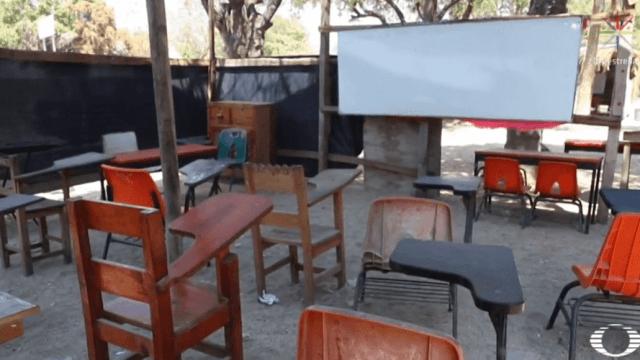 FOTO Niños de Oaxaca siguen sin escuela desde el sismo del 7 de septiembre de 2017 (Noticieros Televisa oaxaca marzo 2019)