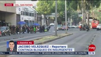 Foto: Nueve horas de bloqueo en Insurgentes