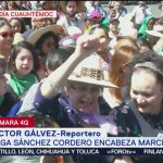 Foto: Olga Sánchez Cordero encabeza marcha por Día Internacional de la Mujer
