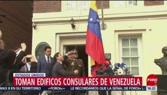 FOTO: Opositores toman edificios consulares de Venezuela en EEUU, 18 marzo 2019