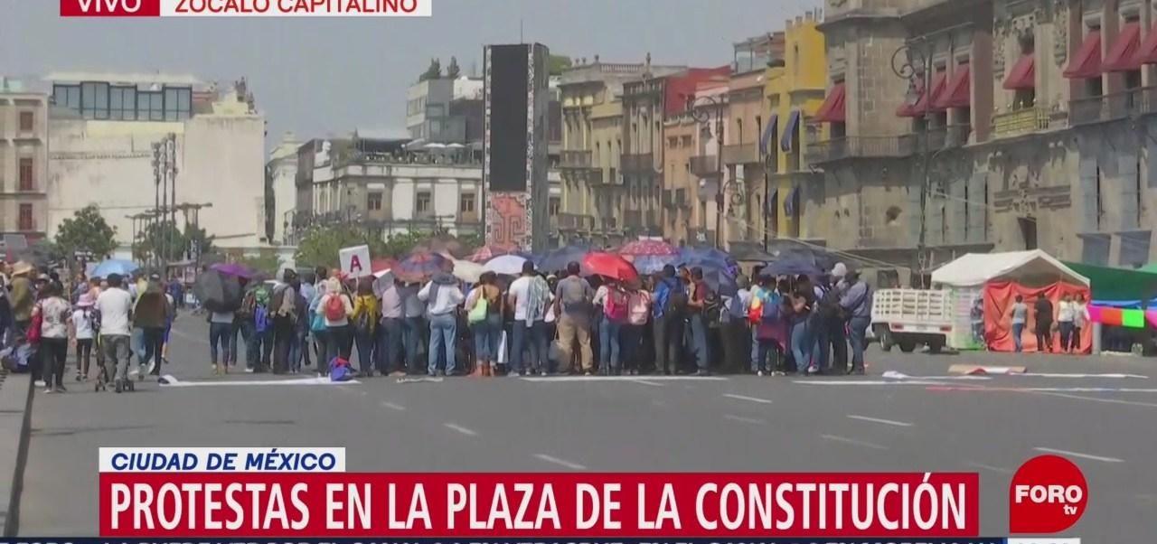 Foto: Organizaciones sociales protestan en el Zócalo
