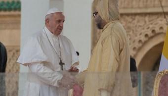 Foto:El papa Francisco pronuncia un discurso después de su reunión con el Rey Mohammed VI de Marruecos, en Rabat, 30 marzo 2019