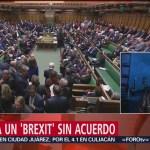 Foto: Parlamento británico descarta brexit sin acuerdo con la Unión Europea