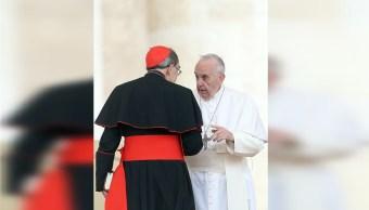 Foto: El cardenal francés Philippe Barbarin, charla con el papa Francisco, 7 marzo 2019