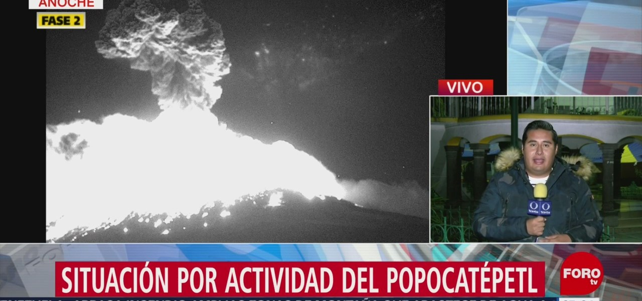 Poblanos, en alerta tras explosión del Popocatépetl