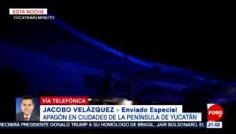 FOTO: Poco a poco se restable servicio, tras apagón en Península de Yucatán, 8 marzo 2019