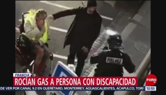 Policía de Francia rocía gas lacrimógeno contra hombre discapacitado