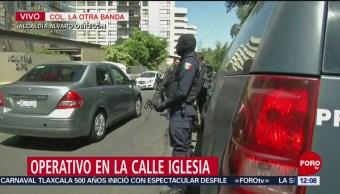 Policía Federal realiza operativo en Álvaro Obregón