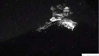 popocatepetl registra explosion acompanada de material incandescente