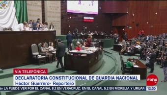 Postergan declaratoria constitucional de la Guardia Nacional