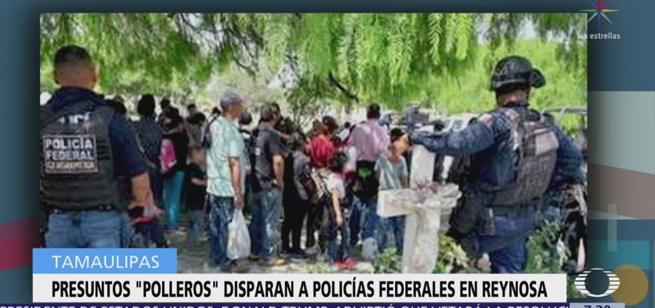 Presuntos 'polleros' disparan a policías federales en Reynosa