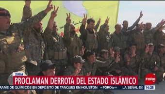 FOTO:Proclaman derrota del Estado Islámico en Siria, 23 Marzo 2019