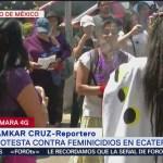 Foto: Protestan contra feminicidios en Ecatepec, planean marcha