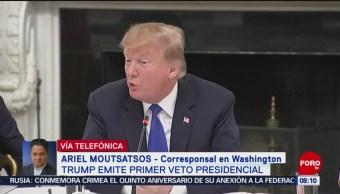 FOTO: Que sucederá tras veto de Trump, 16 marzo 2019