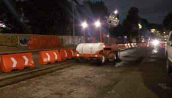 Foto: Reencarpetamiento asfáltico de calles de la Ciudad de México, 21 de marzo de 2019, México