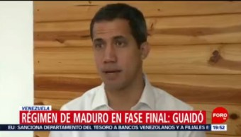 FOTO:Régimen de Maduro en fase final: Guaidó, 23 Marzo 2019