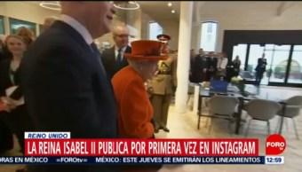 Reina Isabell II postea su primera foto en Instagram