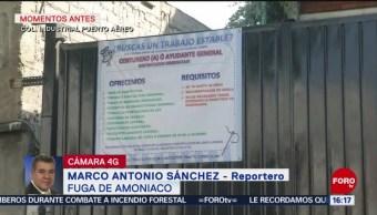 Foto: Reportan fuga de amoniaco en fábrica de hielo