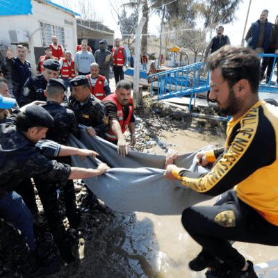 Presidente iraquí visita zona de naufragio y es increpado
