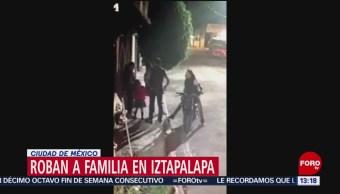 FOTO: Roban a familia en Iztapalapa en CDMX, 16 marzo 2019