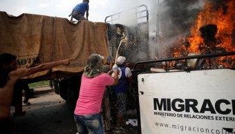 incendio de convoy humanitario lo causo opositor nyt