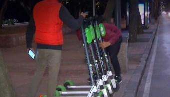 Cerca de mil scooters circulan en tres alcaldías de la CDMX