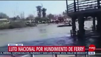 Foto: Se hunde ferry en el Tigris; hay más de 90 muertos