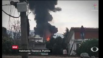 Foto: Incendia Pipa Bodega Combustible Robado Puebla 22 de Marzo 2019