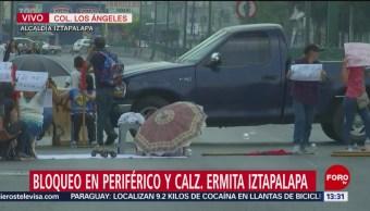 FOTO: Se manifiestan en calles de Iztapalapa por alta delincuencia