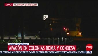 Foto: Apagón Colonias Roma Condesa CDMX 26 de Marzo 2019