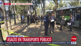 Se registra asalto a transporte público en Circuito Interior