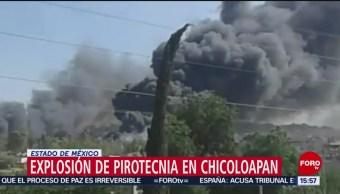 Foto: Se registra explosión de pirotecnia en Edomex