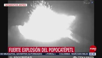 FOTO:Se registra fuerte explosión del volcán Popocatépetl, 18 Marzo 2019